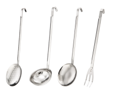 Scoops and spoons with inox handle
